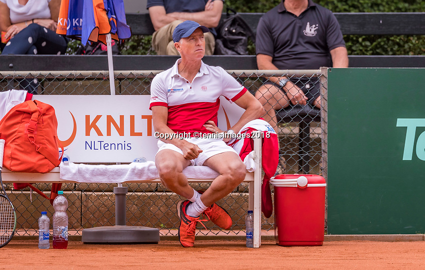 The Hague, Netherlands, 09 June, 2018, Tennis, Play-Offs Competition, coach Tom Nijssen (NED)<br /> Photo: Henk Koster/tennisimages.com