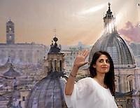 Virginia Raggi<br /> Roma 19-06-2016 Conferenza stampa della neo eletta sindaco di Roma subito dopo l'esito del voto.<br /> Press conference of the new Mayor of Rome, the first woman elected, just after the electoral results.<br /> Photo Samantha Zucchi Insidefoto
