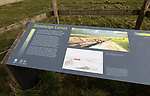 Information panel about the 5,500 years old Stonehenge Cursus, Wiltshire, England, UK