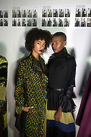 JOHANNESBURG, SOUTH AFRICA - MARCH 10: Models wait backstage for a show for the South African designer Marianne Fassler during a show at Johannesburg Fashion Week week on March 10, 2016, at Nelson Mandela Square Johannesburg, South Africa. (Photo by: Per-Anders Pettersson)