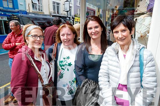 Susan Cronin, Firies, Anna Kidney, Mary and Breda Horgan, Killarney at the Busking at the Market Cross in Killarney on Monday.