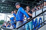 AMSTELVEEN -Kampong coach Tim Oudenaller  . Kampong JB1-Bloemendaal JB1.  BLOEMENDAAL JB1 wint de titel Jongens  B. (3-3) na shoot outs. finales A en B jeugd  Nederlands Kampioenschap.  COPYRIGHT KOEN SUYK