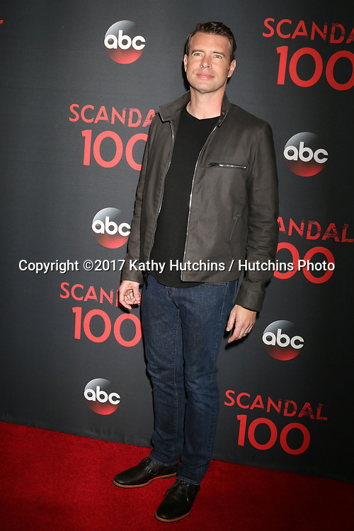 "LOS ANGELES - APR 8:  Scott Foley at the ""Scandal"" 100th Show Party at Fig & Olive Resturant on April 8, 2017 in West Hollywood, CA"