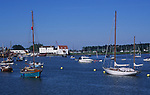 AT5CH1 Sailing boats on the River Deben Woodbridge Suffolk England