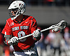 Ryan Bitzer #9 of Stony Brook looks to pass during an NCAA Division I men's lacrosse game against host St. John's University on Sunday, Feb. 19, 2017. He tallied a goal and five assists as Stony Brook rallied from an early 4-0 deficit to win 14-5.