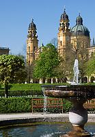 Deutschland, Bayern, Oberbayern, Muenchen: Hofgarten, Theatiner Kirche | Germany, Bavaria, Upper Bavaria, Munich: Hof garden, Theatine Church