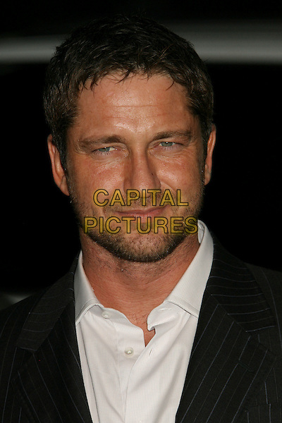 GERARD BUTLER.The 17th Annual Environmental Media Awards held at the Ebell Club, Los Angeles, California, USA..October 24th, 2007.headshot portrait stubble facial hair .CAP/ADM/RE.©Russ Elliot/AdMedia/Capital Pictures.
