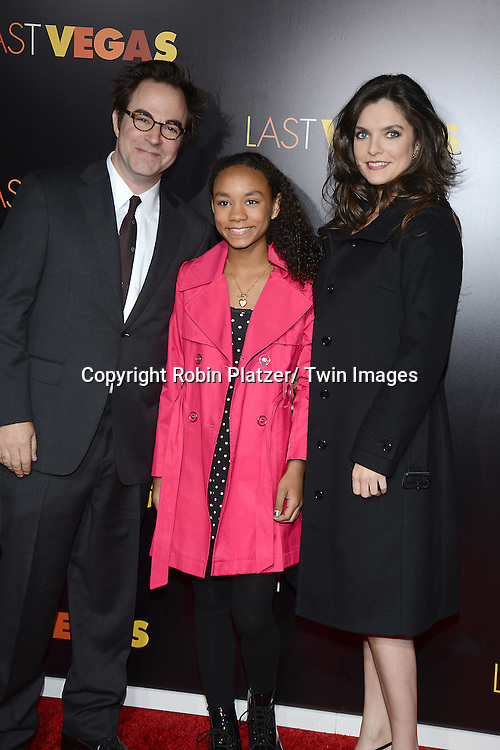 "Roger Bart and family attend the New York Premiere of ""Last Vegas"" on October 29, 2013 at the Ziegfeld Theatre in New York City."