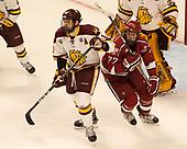 Brenden Kotyk (UMD - 10), Lewis Zerter-Gossage (Harvard - 77) - The University of Minnesota Duluth Bulldogs defeated the Harvard University Crimson 2-1 in their Frozen Four semi-final on April 6, 2017, at the United Center in Chicago, Illinois.