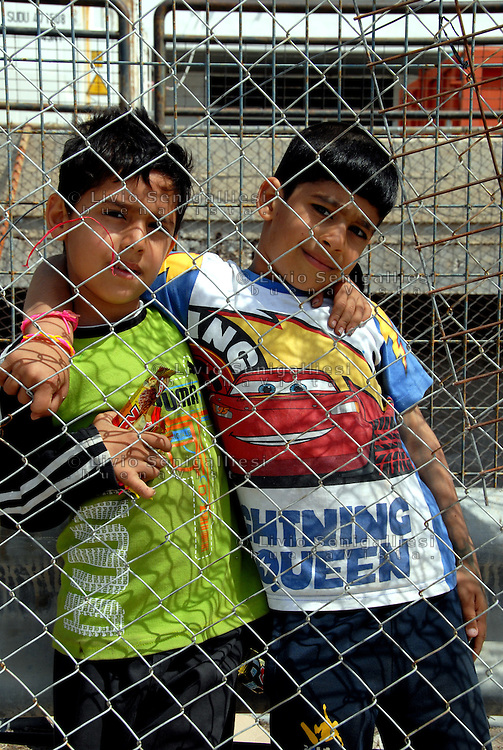 """Athens / Greece 01/04/2016<br /> Refugee camp for afghani people run by greek government in Athens suburb area of the former airport known as """"West Hellenico"""". There are 3000 refugees, the most are families with children. Conditions are very bad, no water, no shawers, no doctors. Most of children are sich.<br /> Photo Livio Senigalliesi"""