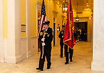 WATERBURY, CT. 20 December 2019-122019BS243 - The Waterbury Fire Department honor guard lead the procession, during the Fire Chief swearing in ceremonies at City Hall on Friday. Terry Ballou replaces former Fire Chief David Martin, who retired earlier this year. Bill Shettle Republican-American