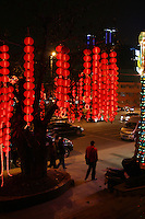 CHINA. Sichuan Province. Chongqing. Cinese lanterns. Chongqing is a city of over 3,000,000 people, famed for being the capital of China between 1938 and 1946 during World War II. It is situated on the banks of the Yangtze river, China's longest river and the third longest in the world. Originating in Tibet, the river flows for 3,964 miles (6,380km) through central China into the East China Sea at Shanghai.  2008.