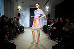 TOKYO - DECEMBER 3: Switz luxury brand Akris introduces its spring/summer collection 2009 at Japan  office in Kojimachi. Akris on Monday announced acquisition of German handbag brand ?Comtesse.? (Photo by Taro Fujimoto/Japan Today/Nippon News)
