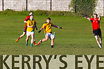 Fossa in action against  Castlegregory in the relegation playoff in the Kerry county football league.