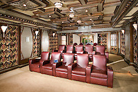 Award Winning Theater Room With Luxury Leather Seating