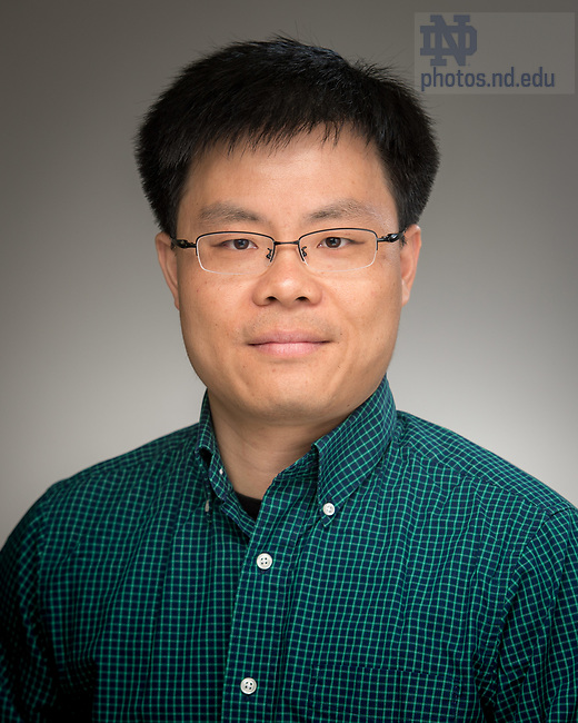 May 11, 2017; Jun Li, Associate Professor of Applied and Computational Mathematics and Statistics (ACMS), University of Notre Dame (Photo by Matt Cashore/University of Notre Dame)