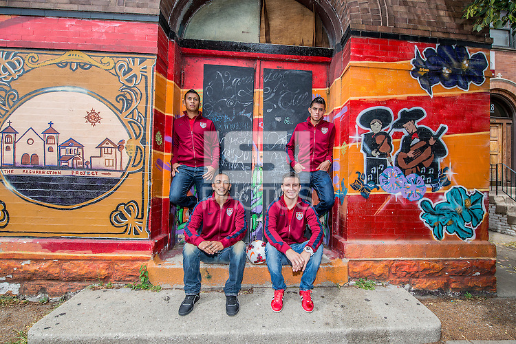 Chicago, IL - Sunday July 28, 2013:   USMNT Pilsen Project in Chicago, IL.