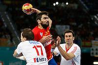 19.01.2013 World Championshio Handball. Match between Spain vs Croatia (25-27) at the stadium La Caja Magica. The picture show  Antonio Garcia Robledo (Left Back of Spain)