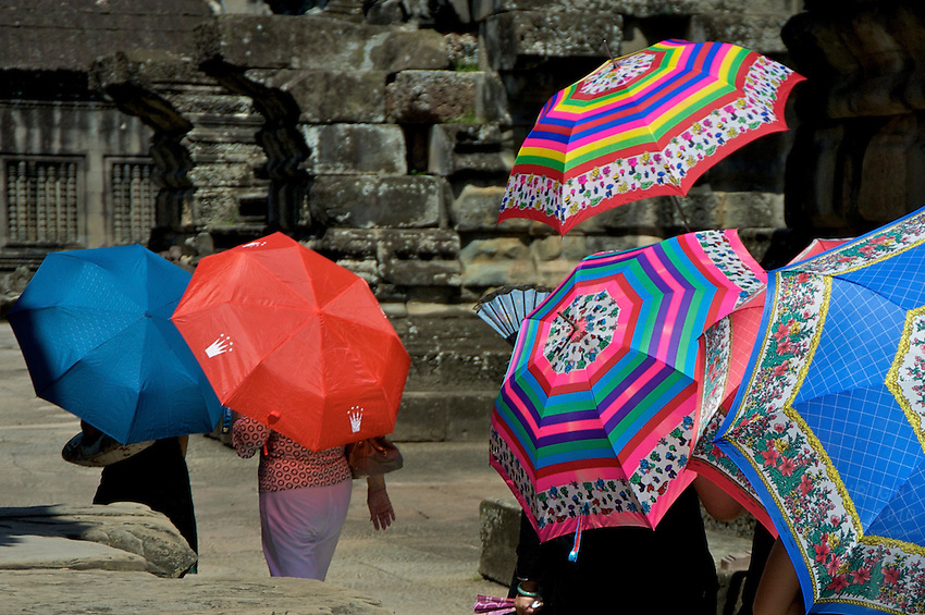 Tourist at Angkor Wat, Siem Reap Cambodia