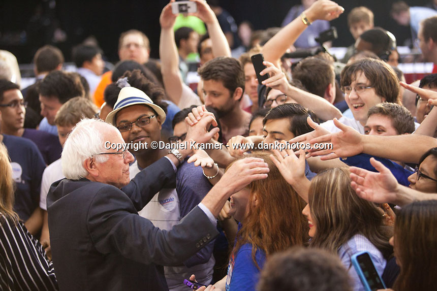 Bernie Sanders Presidential Election Rally at the University of Houston on July 19, 2015.