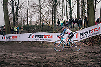 race leader Katie Compton (USA/KFC Racing p/b Trek/Panache)<br /> <br /> Women Elite Race<br /> UCI CX Worlds 2018<br /> Valkenburg - The Netherlands