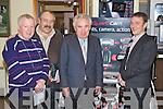 Pictured at the Kellihers Electrical Open Day on Thursday: Timmy Counihan (Kellihers), Micheal Brennan (Cahersiveen) and Paddy Sugrue (Managing Director Kellihers Electrical) and David Thomas (Guardcam).