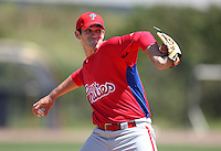 March 30, 2010:  Pitcher Josh Zeid of the Philadelphia Phillies organization during Spring Training at the Carpenter Complex in Clearwater, FL.  Photo By Mike Janes/Four Seam Images