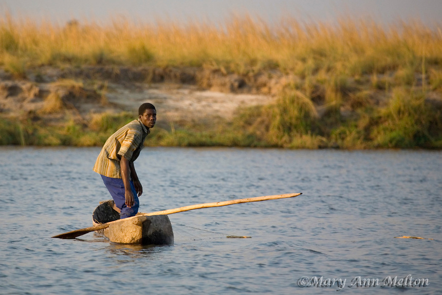 African Fisherman on the Chobe River