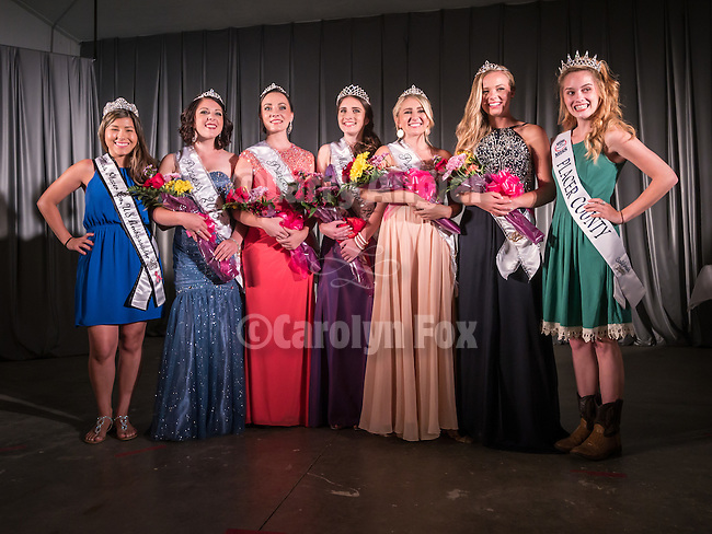 Opening of the 77th Amador County Fair, Plymouth, Calif.<br /> <br />  Miss Amador Scholarship Pageant, Jim Guidi, MC<br /> <br /> Makenzie Johnson, Mikayla Haefele, Katherine Stiltz, Krisina Woolsey, and Kasidy Slusser