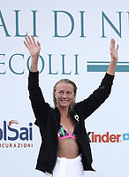 Swimming 55&deg; Settecolli trophy Foro Italico, Rome on June 30, June 2018.<br /> Swimmer Sarah Sjoestroem, of Sweden, waves to fans after winning the women's 100 meters Butterfly at the Settecolli swimming trophy in Rome, on June 30, 2018.<br /> UPDATE IMAGES PRESS/Isabella Bonotto