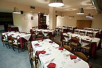 L'interno della Trattoria del Mercato ad Asti.<br /> Interior of the Trattoria del Mercato restaurant in Asti.<br /> UPDATE IMAGES PRESS/Riccardo De Luca