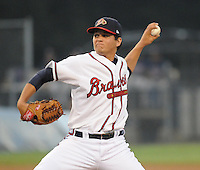 July 15, 2009: LHP Luis Avilan (51) of the Danville Braves, rookie Appalachian League affiliate of the Atlanta Braves, in a game at Dan Daniel Memorial Park in Danville, Va. Photo by:  Tom Priddy/Four Seam Images