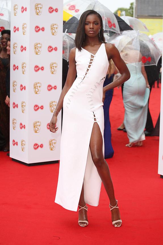 Leomie Anderson<br />  arriving at the Bafta Tv awards 2017. Royal Festival Hall,London  <br /> ©Ash Knotek