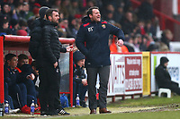 Stevenage manager Darren Sarll during Stevenage vs Luton Town, Sky Bet EFL League 2 Football at the Lamex Stadium on 10th February 2018