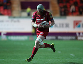 29th September 2017, Parc y Scarlets, Llanelli, Wales; Guinness Pro14 Rugby, Scarlets versus Connacht; Jake Ball of Scarlets makes a run through a gap with the ball