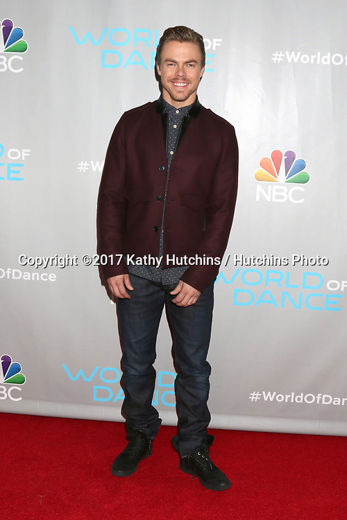 """LOS ANGELES - JAN 25:  Derek Hough at the """"World of Dance"""" Photo Call at Universal Studios on January 25, 2017 in Universal City, CA"""
