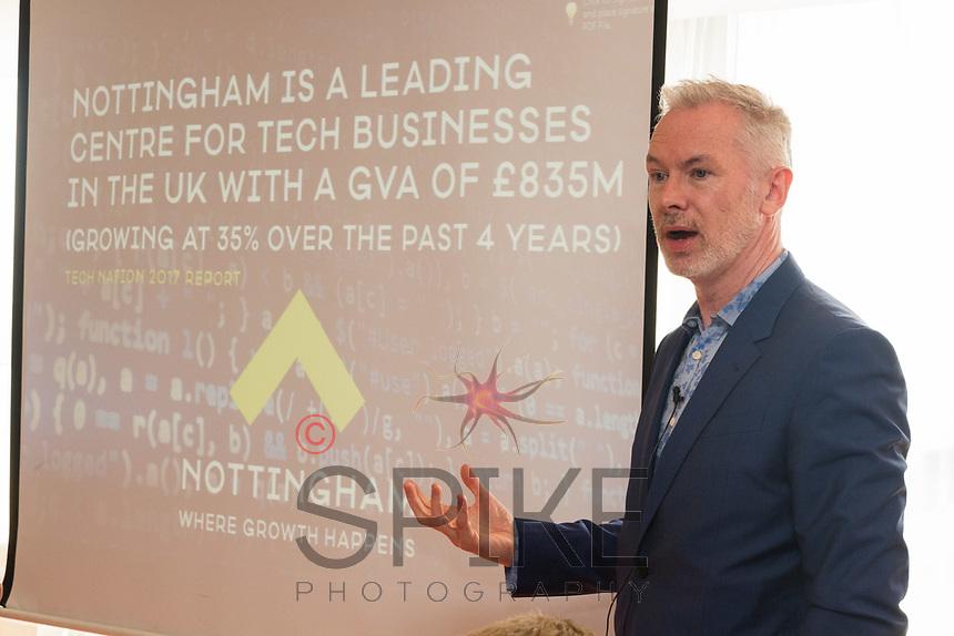 Guest speaker Brendan Moffett of Marketing NG