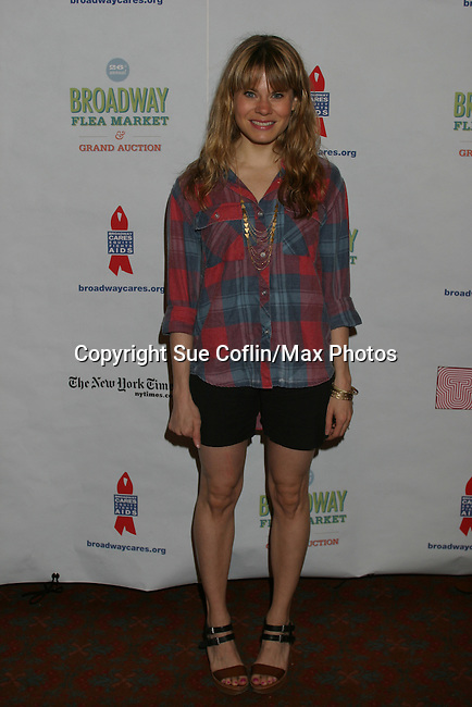 Celia Keenan-Bolger (Peter and the Starcatcher) at The 26th Annual Broadway Flea Market and Grand Auction to benefit Broadway Cares/Equity Fights Aids on September 23, 2012 in Shubert Alley and Times Square, New York City, New York.  (Photo by Sue Coflin/Max Photos)