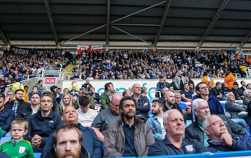 Preston North End supporters<br /> <br /> Photographer Andrew Kearns/CameraSport<br /> <br /> The EFL Sky Bet Championship - Reading v Preston North End - Saturday 30th March 2019 - Madejski Stadium - Reading<br /> <br /> World Copyright © 2019 CameraSport. All rights reserved. 43 Linden Ave. Countesthorpe. Leicester. England. LE8 5PG - Tel: +44 (0) 116 277 4147 - admin@camerasport.com - www.camerasport.com