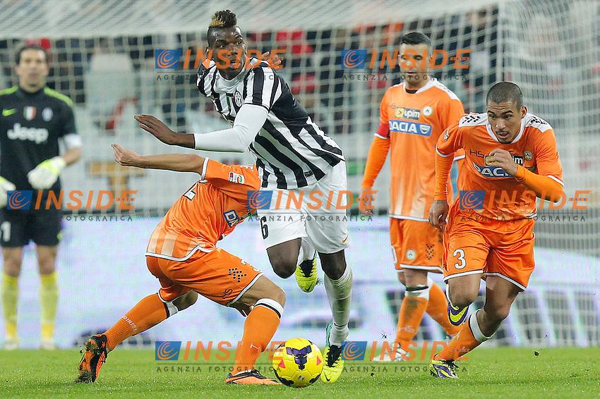 Paul Pogba Juventus, Marques Allan Udinese, Torino 01-12-2013, Juventus Stadium, Football Calcio 2013/2014 Serie A, Juventus - Udinese, Foto Marco Bertorello/Insidefoto