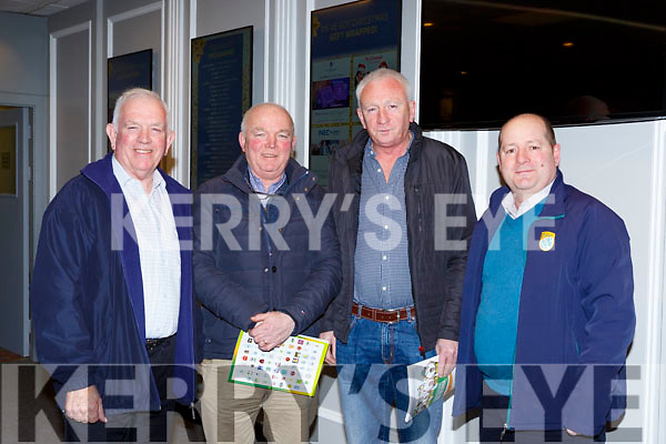 Johnny Brosnan East Kerry, Connie Sullivan Glenbeigh, Mike Hickey Milltown and Pdge Leane Milltown  at the Kerry GAA County Board Convention in the INEC on Monday night
