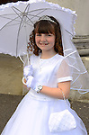 Ava Hoey made her First Communion at the Lourdes Church on Saturday. www.newsfile.ie