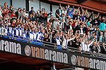 Bristol Rovers players lift the trophy after victory in the 2015 Vanarama Conference Promotion Final match between Grimsby Town and Bristol Rovers at Wembley Stadium, London<br /> Picture by David Horn/eXtreme aperture photography +44 7545 970036<br /> 17/05/2015