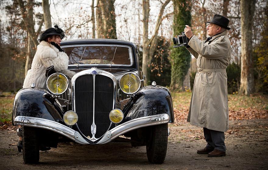27/11/18 - THIERS - PUY DE DOME - FRANCE - Essais DELAHAYE Carrosserie Labourdette type 135 de 1936 - Photo Jerome CHABANNE