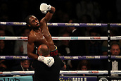 2nd February 2019 The O2 Arena, London, England; Boxing, European Super-Welterweight Championship, Sergio Garcia versus Ted Cheeseman; Craig Richards celebrates with his team as he wins WBA Continental Light-Heavyweight Championship