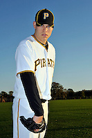 Feb 28, 2010; Bradenton, FL, USA; Pittsburgh Pirates  pitcher Justin Thomas (65) during  photoday at Pirate City. Mandatory Credit: Tomasso De Rosa/ Four Seam Images