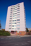 High rise inner city flats, Hessle Road, Hull, Yorkshire, England