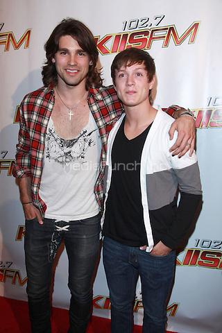 Justin Gaston and Alex Lambert at KIIS FM's Wango Tango 2010 at Staples Center  in Los Angeles, California. May 15, 2010  Credit: Dennis Van Tine/MediaPunch