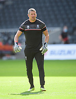 Lincoln City's first team goalkeeping coach Steve Croudson during the pre-match warm-up<br /> <br /> Photographer Chris Vaughan/CameraSport<br /> <br /> The EFL Sky Bet League One - Milton Keynes Dons v Lincoln City - Saturday 19th September 2020 - Stadium MK - Milton Keynes<br /> <br /> World Copyright © 2020 CameraSport. All rights reserved. 43 Linden Ave. Countesthorpe. Leicester. England. LE8 5PG - Tel: +44 (0) 116 277 4147 - admin@camerasport.com - www.camerasport.com