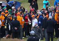 Paraded to the many fans, and holding the Claret Jug, Jordan Spieth (USA) is the Champion Golfer winning Sunday's Final Round at The 146th Open played at Royal Birkdale, Southport, England.  23/07/2017. Picture: David Lloyd | Golffile.<br /> <br /> Images must display mandatory copyright credit - (Copyright: David Lloyd | Golffile).